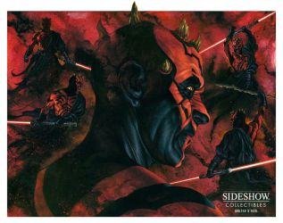 Sideshow - Darth Maul Mythos - Final illustration by No-Sign-of-Sanity