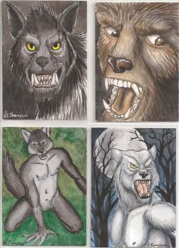 Werewolf ATC Swap Cards by The-IceKat