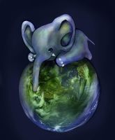 Earth Elephant by JasminSalen