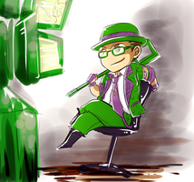 Chibi Riddler quick sketch by Meinarch