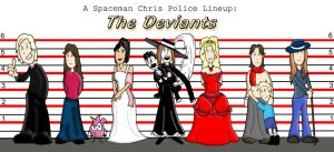 Police Lineup: The Deviants by Spaceman-Chris