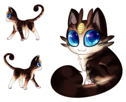 Brownie the Meowth by katterboxes