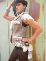 Upcycled Vintage Steampunk Vest by DewdropzGarden