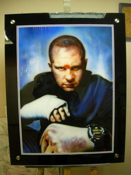 Fedor E. - Airbrush Portrait by PrimoOne