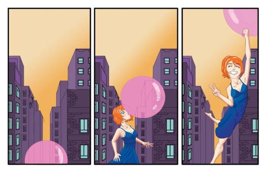Bubble Gum Girl by rosas-chris
