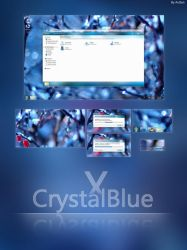 Crystal X Blue For Windows7 by AxiSan
