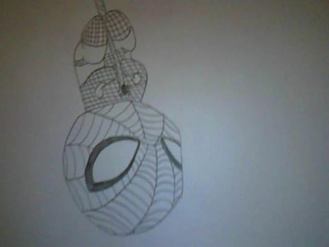 Chibi spiderman hanging upside down!! by bananabelly3