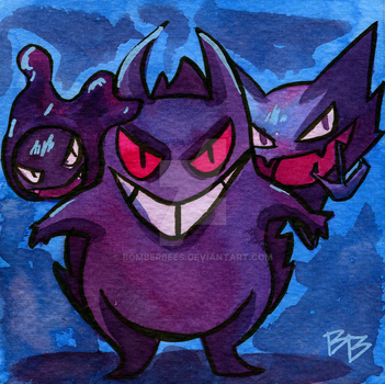 Gengar and the fam by BomberBees
