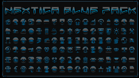 Icon Pack Nextica Blue by Agelyk