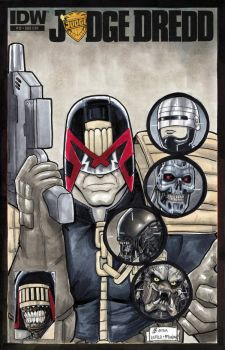 Here Comes The Judge Called DREDD by BigChrisGallery