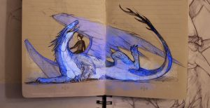 Eragon and Saphira by AndreevaPolina