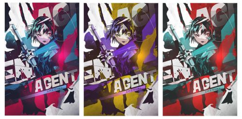 Large Art - Agent Special - 3 Versions by Dwayn-KIN
