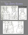 Cherry Arts Snow Queen - Court Costumes by rachelillustrates