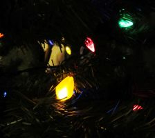 Christmas Tree Lights IV by dull-stock