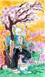 Usagi Yojimbo under Cherry Blossoms by mannycartoon