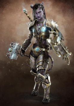 Draenei Paladin - WoW Fan art by Morxx