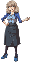 Joyce from Dumbing of Age in her Sunday Best by DeathbyChiasmus