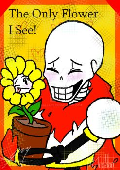 UNDERTALE : Papyrus and Flowey by 6ALLAN6