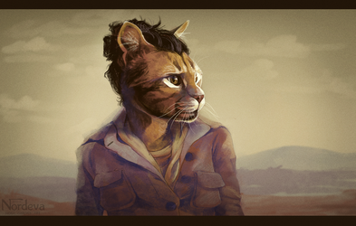 Indie Folk Cat by Nordeva