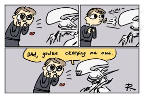 Alien: Covenant, doodles 2 by Ayej