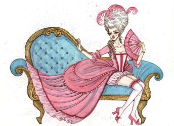 Pin-up Series: 18th Century France by xcutHEREx