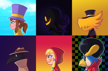A Hat in Time Side Profiles by ToukansDesign