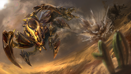The Iron Sting - Dota 2 SandKing Loading screen by TrungTH