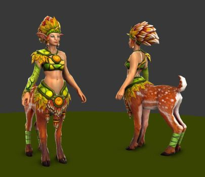 Enchantress Forest of Seasons texture WIP by Anuxinamoon