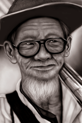 old man_painting by Wehatearts