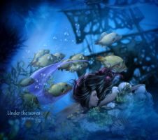 Under the waves by MelFeanen