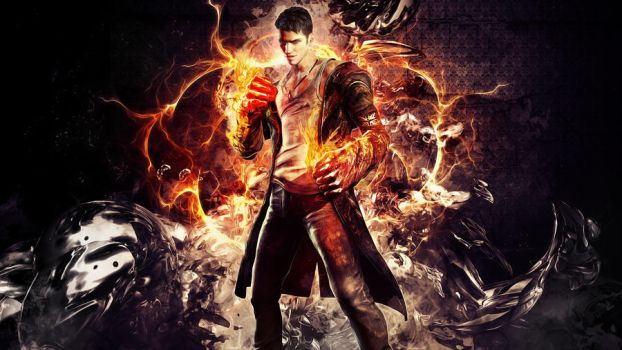 DmC - Dante Eryx Wallpaper by TheSyanArt