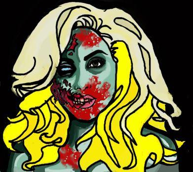 Zombie Gaga colour by MissCreepers