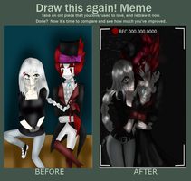 [ Redraw this again ! MEME ] by LiaWorlds