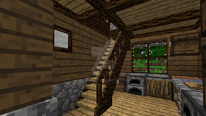 Minecraft - Little kitchen stairs by Timidouveg