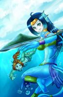 Celestina and Ayame by DevilMarie