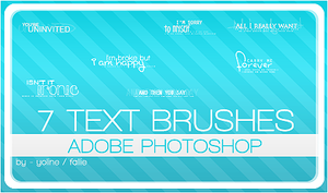 text brushes by fallie