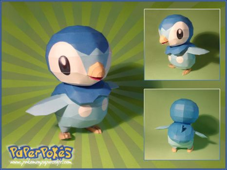 Piplup Papercraft by Lyrin-83