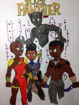 Black Panther and the Dora Milaje by streak663