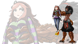 Wallpaper Vivian james 2 by KukuruyoArt