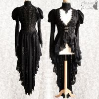 Lace overcoat Issoire, Victorian, goth, Steampunk by SomniaRomantica
