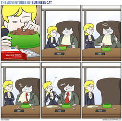 The Adventures of Business Cat - Medication by tomfonder