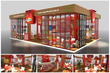 Superfresh Exhibition Stand Design EXPO EDT 2015 by GriofisMimarlik