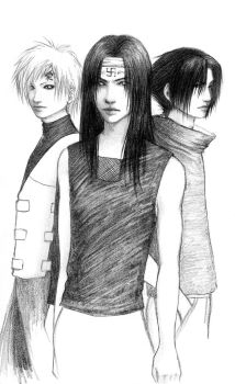 3 Rivals For Naruto's Heart by AtlantisForester