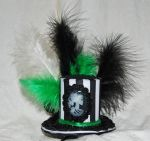Goth Steampunk Hat with Cameo by MarilynFaye