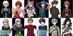 Danganronpa sprite commissions by MIGDAVART