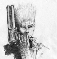 Vash Trigun sketch by ninjason57