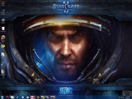StarCraft II Windows 7 Theme by yonited