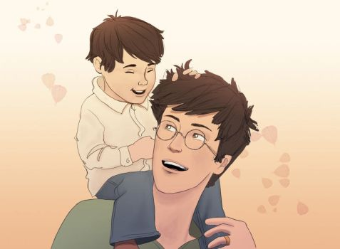 James and Baby Harry by julvett