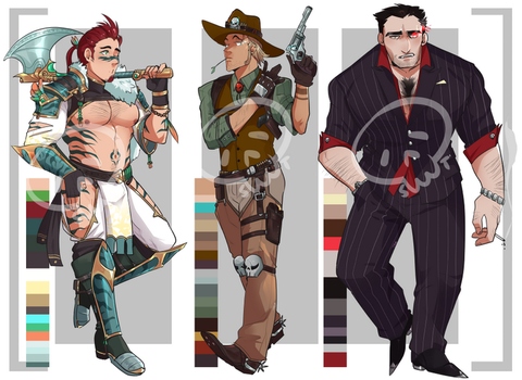 [Adopts] Men I    Closed   USD    Auction by Clover1