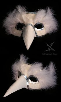 White bird venetian mask by MissAnnThropia